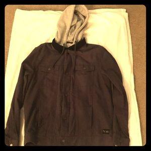 Vans, 2-in-1 hoodie sewed into jacket! Never worn!